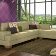 Stock Photo: Interior with corner sofa