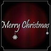 рождественская открытка со снежинками на фоне занавеса — Cтоковый вектор