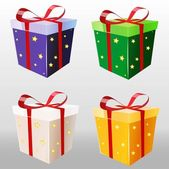Vector colorful gift packaging.illustration — Vector de stock