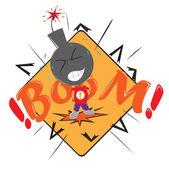 Vector illustration.EPS 10.Boy bomb vector — Stock Vector
