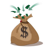 Vector illustration.EPS 10.money bag vector (profit) — Vettoriale Stock