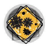 Vector illustration.EPS 10.gears vector — Stock Vector