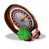 Roulette and slot bones vector — Stock Vector