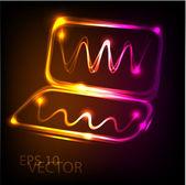 Neon vector notebook — Stock Vector