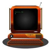 Retro vector computer — Stock Vector