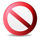No Sign, No symbol, Not Allowed isolated on white background — Stock Vector