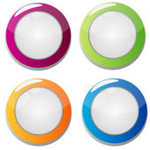 Colorful round convex buttons — Stock Vector