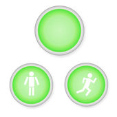 Vector round buttons people — Stock Vector