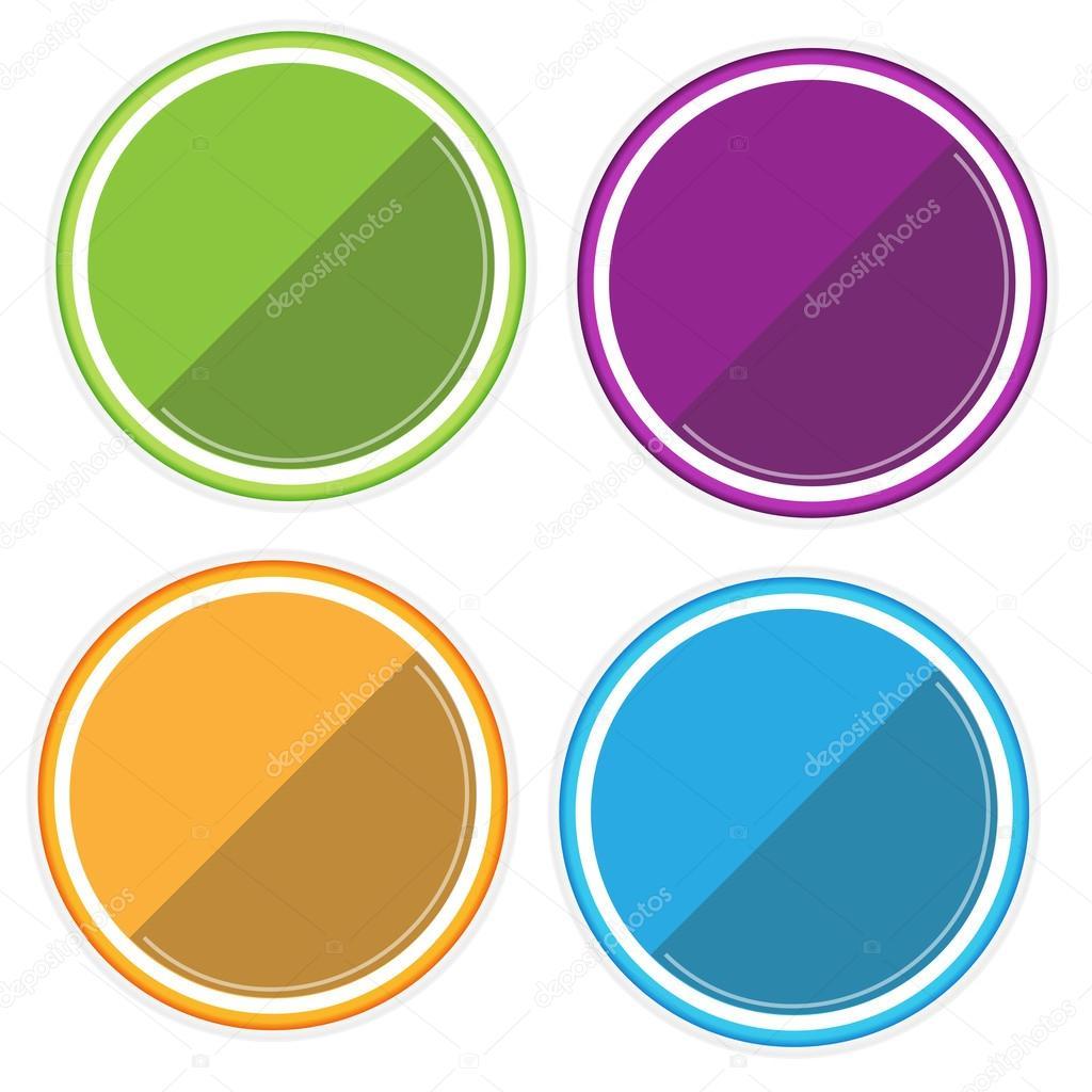 Etiquetas Redondas de Colores de Etiquetas Redondas de