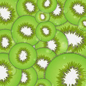 Vector texture or background of kiwi — Stock Vector
