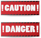 Warning red signs vector illustration — Stock Vector