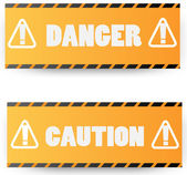Warning signs.vector illustration — Stock Vector