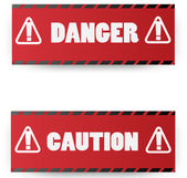 Warning red signs.vector illustration — Stock Vector