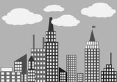 Silhouette of the city.vector illustration — Vettoriale Stock