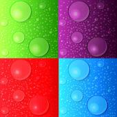 矢量背景或纹理颜色的表面或泡沫液体。设置 — 图库矢量图片