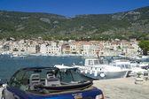 The town of Komiza, Vis in Croatia. — Stock Photo