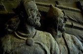 A bronze statue of knights — Stock fotografie