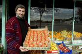 Fruit shop owner — Stock Photo