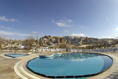 A pool in a luxury hotel in Goreme, Cappadocia, — Stockfoto