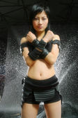 Kung fu Chinese model — Stock Photo