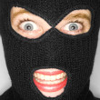 Stock photograph of attractive womwearing balaclava. — Stock Photo #37323675