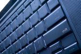černá počítačová klávesnice — Stock fotografie