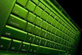 Green Computer keyboard — Stock fotografie
