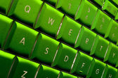 Green Computer keyboard — Foto de Stock