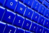 Teclado de computadora azul — Foto de Stock