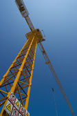 Top of tower crane — Stock Photo
