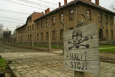 The Auschwitz concentration camp — Stock Photo