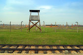 Auschwitz concentration camp — 图库照片