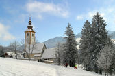 Church covered by Snow — Stockfoto