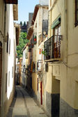 Narrow hilly streets — Stock fotografie