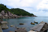 Wooden jetty on Koh Tao,Thailand — Photo