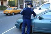 Parking inspector — Stock Photo