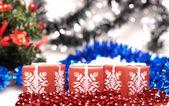Tři boxy k vánocům — Stock fotografie