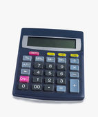 Calculator with euro converter — Stock Photo
