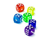 Color dice number five — Stock Photo