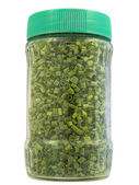 Dried chive in jar — Stock Photo