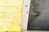 Lana de vidrio en el techo — Foto de Stock