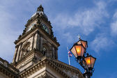 Bolton Town Hall clock tower in the afternoon light. Lancashire, England. — Stock Photo