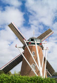 The old brick windmill — Stock Photo
