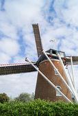 The old brick windmill — Foto de Stock