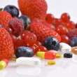 Vitamins and nutritional supplements — Stock Photo