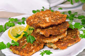 Vegetable and meat patties  — Stock Photo