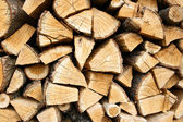 Woodpile of the oaken log — Stock Photo