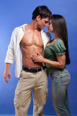 Sexy young couple — Stock Photo