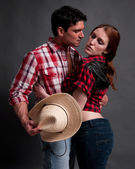 Cowboy cowgirl — Stock Photo