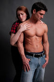 Sexy regency couple — Stock Photo